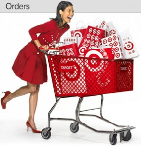 Target Shopping Cart with woman and packages 287x300 Target Clearance: Target Clearance Schedule & Target Clearance Deals