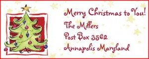free christmas return address labels
