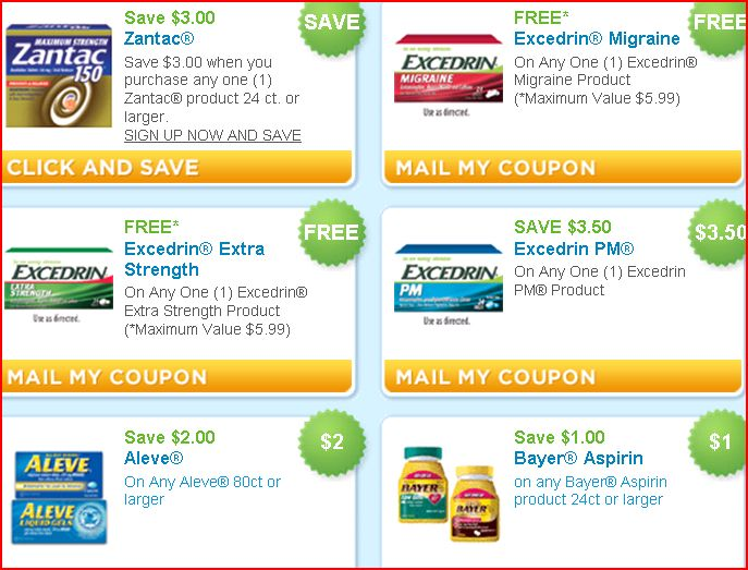 Free excedrin with printable coupons family finds fun for Coupons for factory direct craft