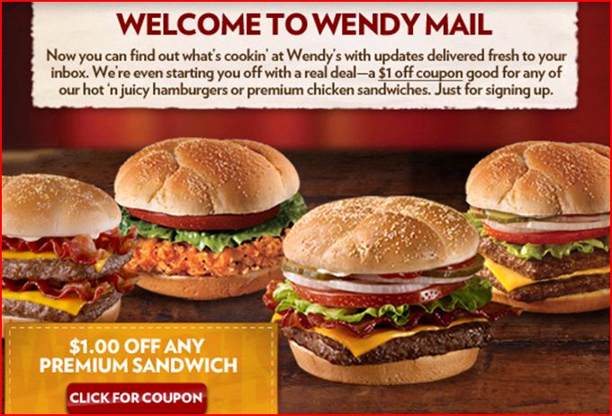 Wendy's Coupons: $4.19 Off for May 2019
