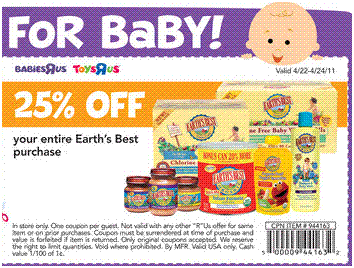 Babies r us coupons earth's best