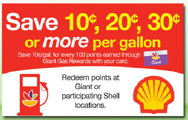 Giant food store gas coupon