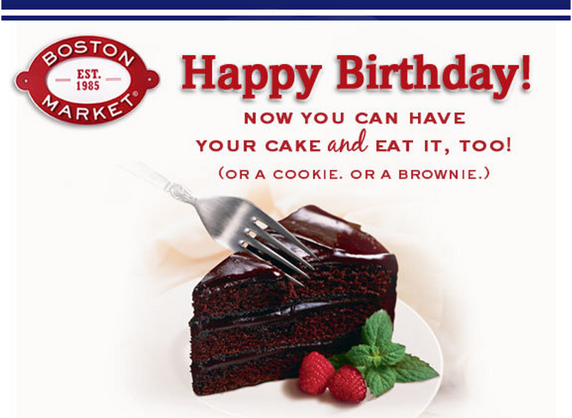 Boston Market Free Cake On Your Birthday Family Finds Fun