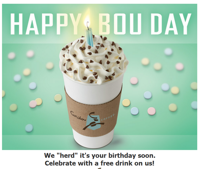Caribou Coffee Birthday