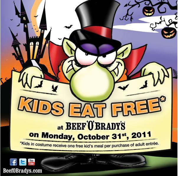 Beef O Bradys Free Kids Meal