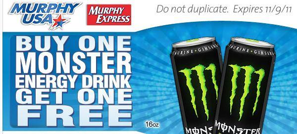 murphy usa bogo monster drink offer family finds fun. Black Bedroom Furniture Sets. Home Design Ideas