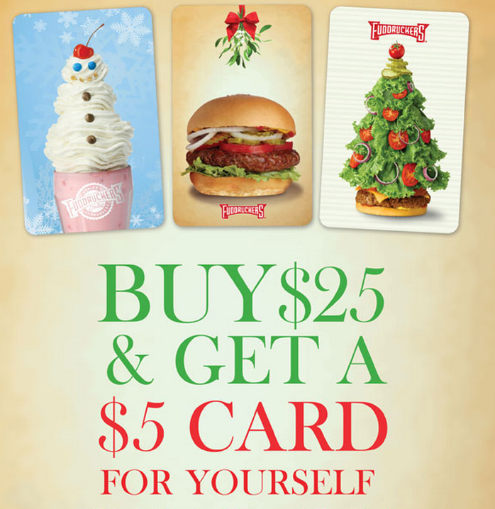 Fudruckers Christmas Gift Card Promotion Family Finds Fun