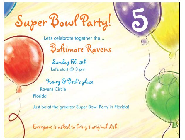 Super Bowl Party Invitations FREE From Vistaprint Family Finds Fun