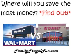 Where will you save the most money Walmart or Target Find out