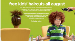 FREE Hair cuts at JC Pennys Back to SChool 300x166 Back to School Hair Cuts FREE at JC Penney