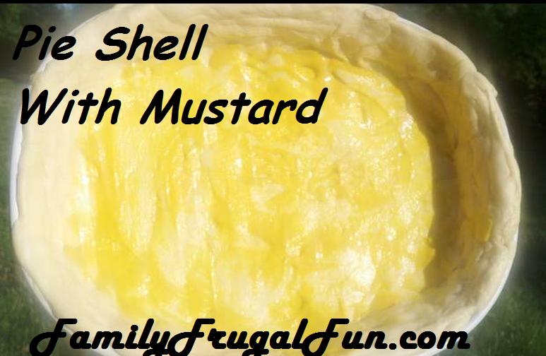 pie shell with mustard Summer Squash Pie Recipe