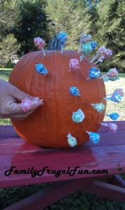 Halloween Pumpkin with Lillypops image
