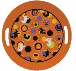 Halloween Serving Tray 300x278 Kids Halloween Party Ideas: One Eyed Hot Dog Monsters Recipe