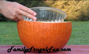 Halloween pumpkin punch bowl image