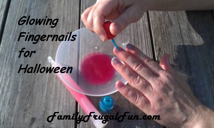 glowing finernail polish recipe