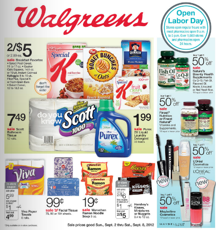 Walgreens Open On Labor Day A Walgreens coupon code brings household essentials, beauty products, and more right to Search the Walgreens weekly ad for the store nearest you for the latest scoop on top .. You'll get free 1- to 3-day shipping on orders of $35 or more.