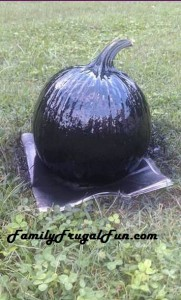 Pumpkin sprayed with black chalkboard paint image