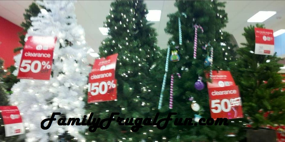 Artificial Christmas Trees After Christmas Clearance at Target