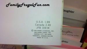Price on Hallmark card 300x170 Safeway Ad 2/6/13 Safeway Coupon Matchups
