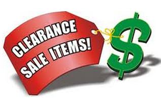 Clearance sale sign How to Save in March, Best time to buy, Whats on Sale etc.