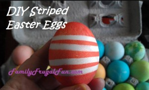 DIY Striped dyed Easter Egg