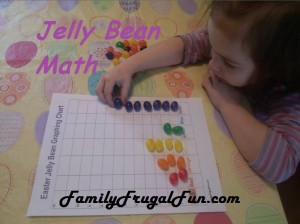 Easter Kids Activities Ideas Jelly Bean Graph Chart 300x224 Homemade Rice Krispy Easter Eggs Recipe