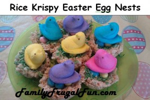 Kelloggs Rice Krispy Easter Egg Nests 300x201 Homemade Rice Krispy Easter Eggs Recipe