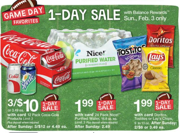 Walgreens Superbowl Sunday 1 Day Only Sale | Family Finds Fun