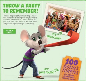 Chuck E Cheese FREE Tokens with Birthday Party Family Finds Fun