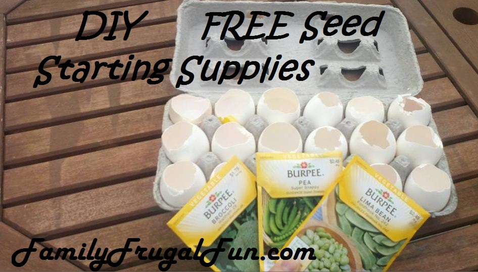 DIY FREE Seed starting supplies