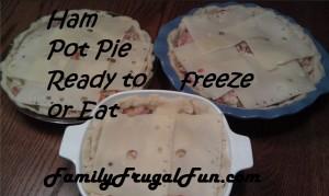 Leftover Easter Ham Pot Pie