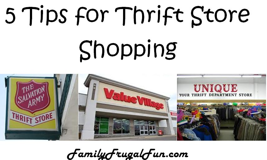 5 Tips for Thrift Store Shopping
