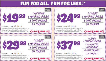 Chuck E Cheese Coupons Family Finds Fun