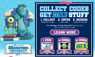 Kelloggs Monsters Codes