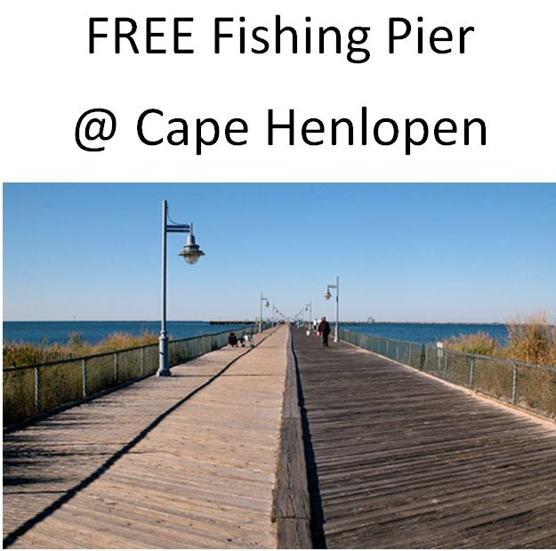 FREE Fishing Pier at Cape Henlopen State Park