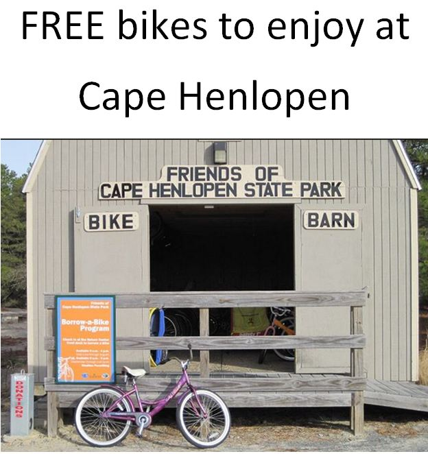 FREE bikes to use at Cape Henlopen State Park