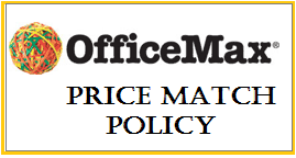 Office Max Price Match Policy