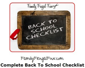 Complete back to school check list