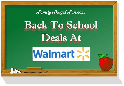 Walmart Back To School
