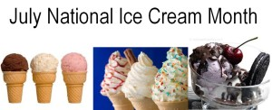 July National Ice Cream Month