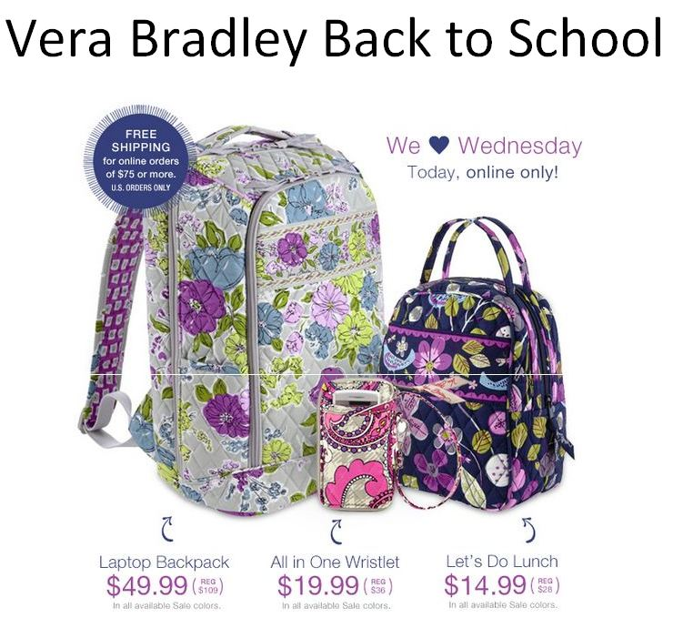 Vera Bradley Back to School Vera Bradley Laptop Backpack Sale ...