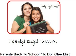 parents back to school check list of things to do before school starts