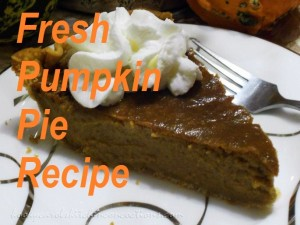 Fresh Pumpkin Pie Recipes