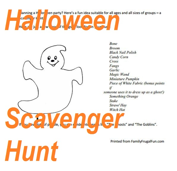 halloween party games ideas by maggie 2 comments halloween worksheet halloween scavenger hunt - Game Ideas For Halloween Party