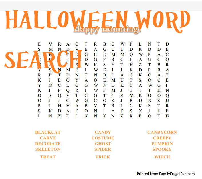 Halloween Worksheet Educational – Fun Halloween Worksheets