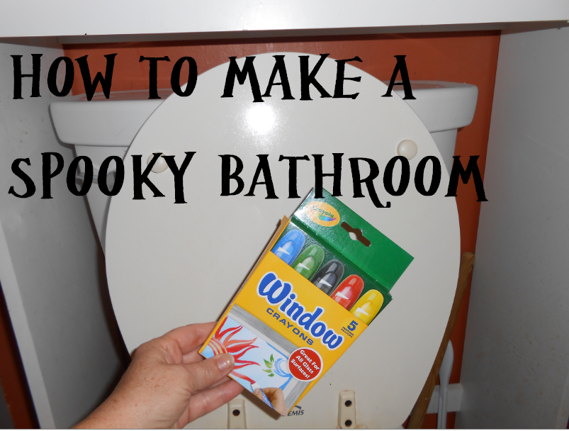 homemade halloween props decorate your bathroom