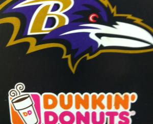 Baltimore Ravens Dunkin' Donuts