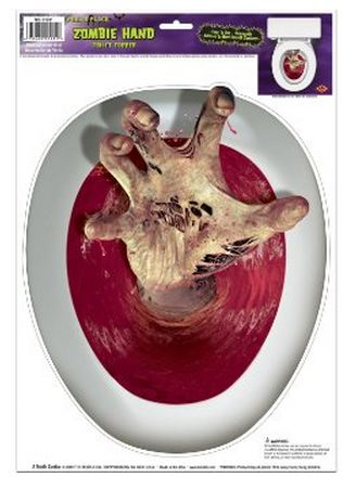 halloween party decorations zombie toilet topper
