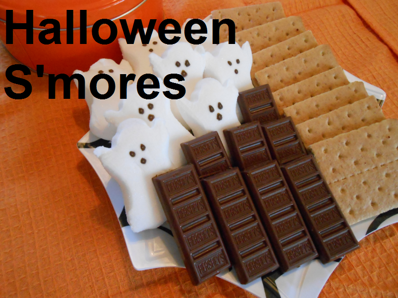 Halloween Smores Station For Kids Party Ideas