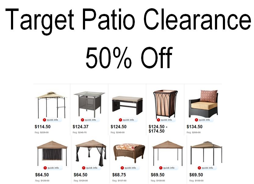 Target Patio Furniture Clearance Sale